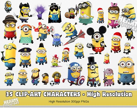 Hey, I found this really awesome Etsy listing at https://www.etsy.com/listing/241610569/35-minions-clip-art-best-quality-high