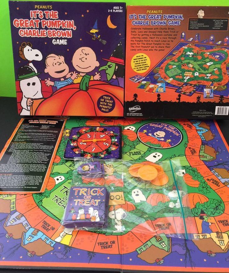 It's The Great Pumpkin Charlie Brown Board Game Peanuts Halloween     eBay