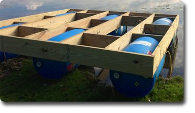 Check out this floating dock on of our customers made :)