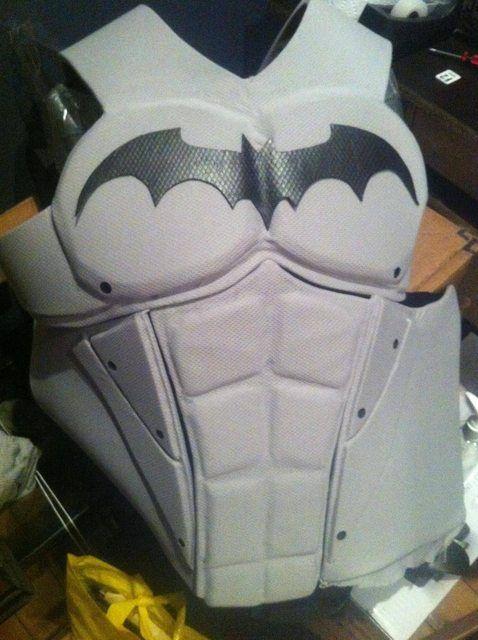 arkham skill black and gray suit | Batman Armor Template Batman-chest templates