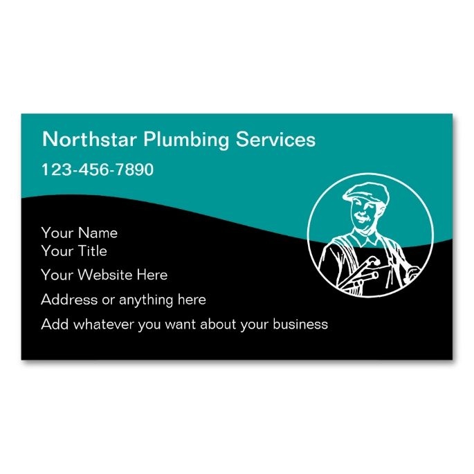 Plumber business cards make your own business card with for Make your own business cards template