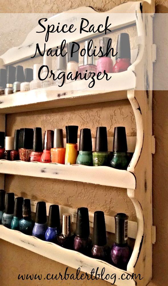 spice rack nail polish holder:)