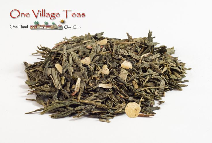 Niagara Peach Green Tea  A gentle and delicate green tea with hints of sweet citrus and a natural smoothness that is both refreshing and flavourful.   www.onevillageteas.com  Ingredient Highlights Green tea, jasmine petals, natural flavours