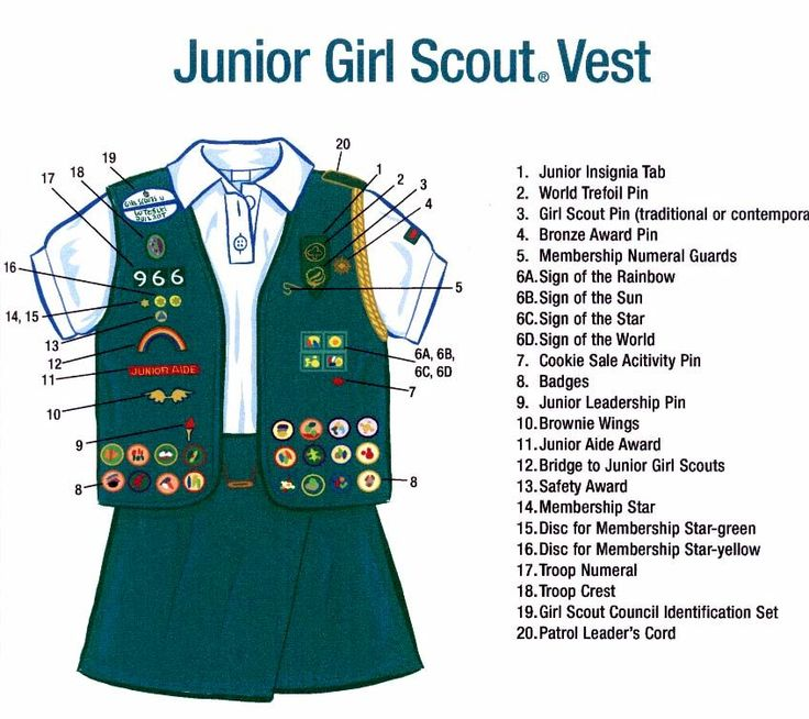 junior girl scouts vest junior girl scouts pinterest