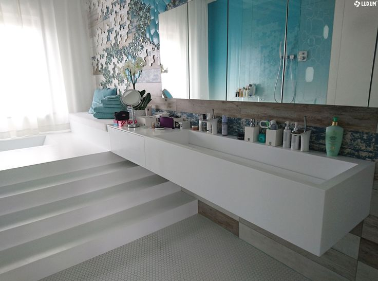 #design #architecture  #bathroom #modernbathroom #moderninterior #luxum #corian #bathroomideas #washbasin #doublewashbasin #modernsink #sink