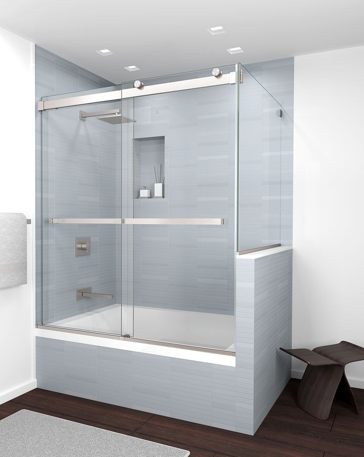 GlassCraftersu0027 Equalis Series Shower Door System Provides Functionality Of  A Frameless By Pass With A Timeless, Contemporary And Transitional  Aesthetic.