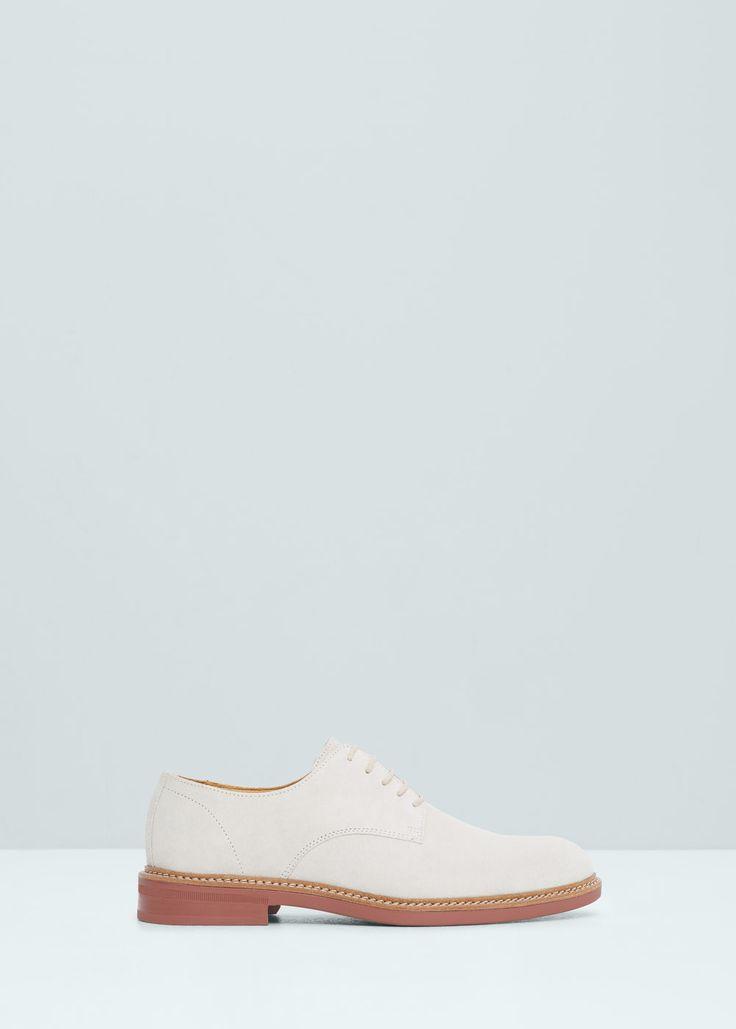Blucher pele croute - Sapatos de Homem   MANGO