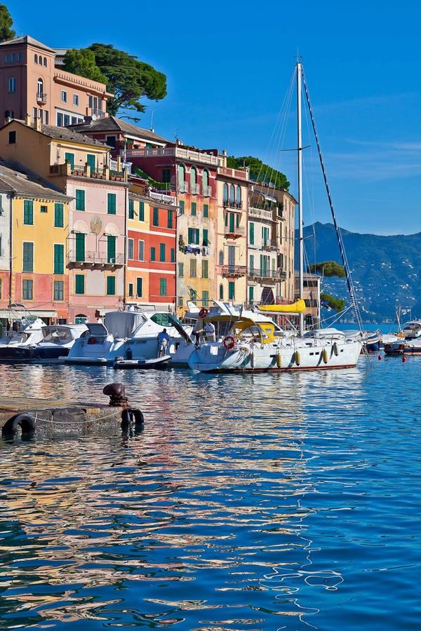 Portofino Harbour, Province of Genoa, Liguria, Italy
