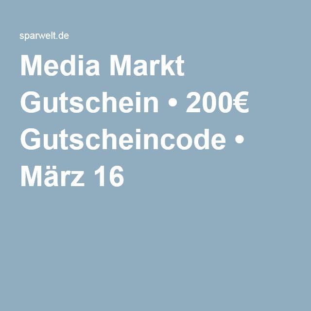 Media Markt Gutschein • 200€ Gutscheincode • März 16