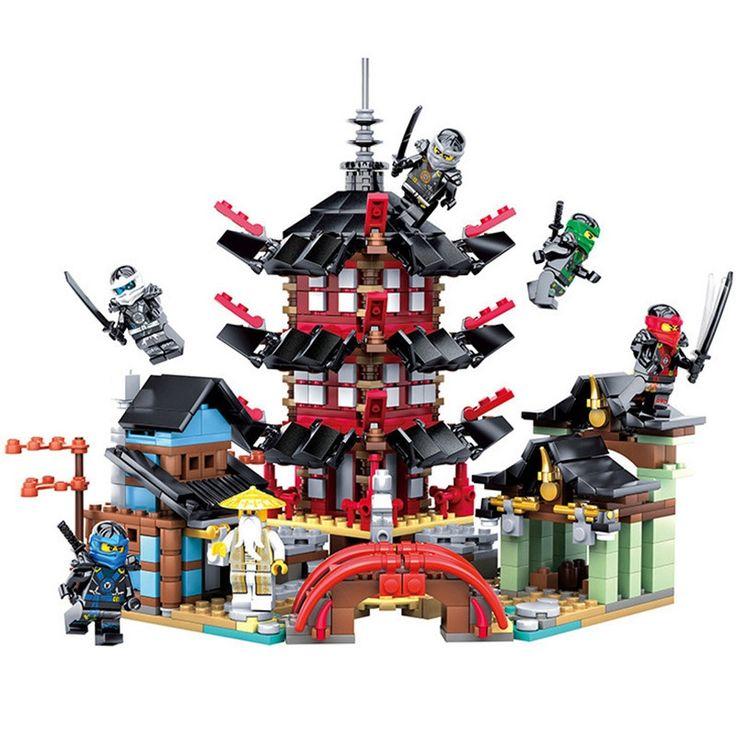 26.95$  Watch here - http://alijk1.shopchina.info/1/go.php?t=32814195968 - 737Pcs Ninja Building Blocks Temple of Airjitzu Anime Figures Kids Bricks Toys Compatible TK0188 26.95$ #magazine