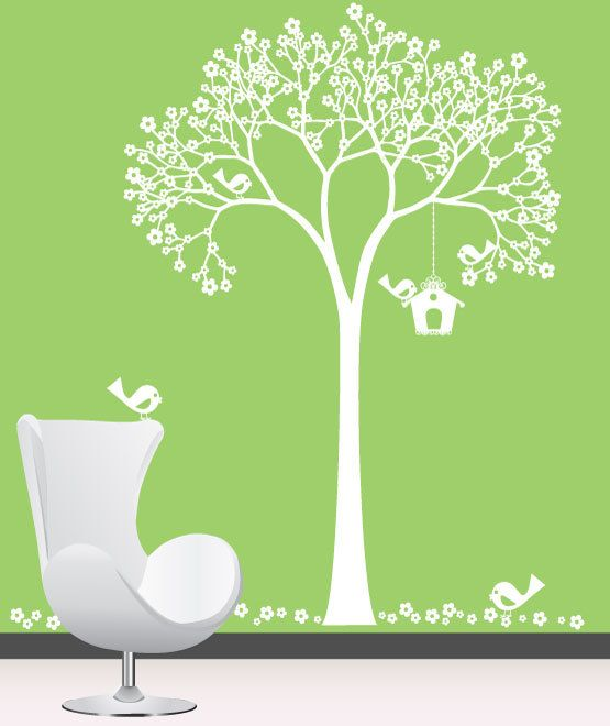 Baby Nursery Wall Decals Nursery Garden cherry Tree Vinyl Wall Decal