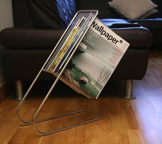 This is a clever piece of engineering meant to hold up magazines in the air, like they're floating.