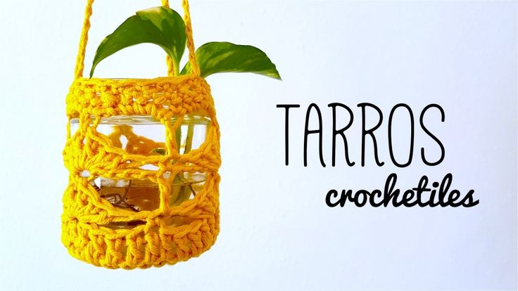 TARROS DE VIDRIO decorados con crochet (ENGLISH SUB) | tutorial paso a p...