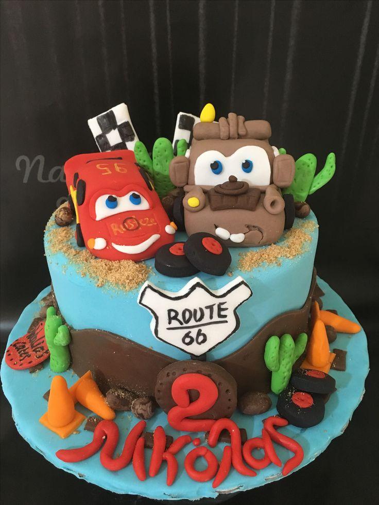 Cars mc queen birthday cake!