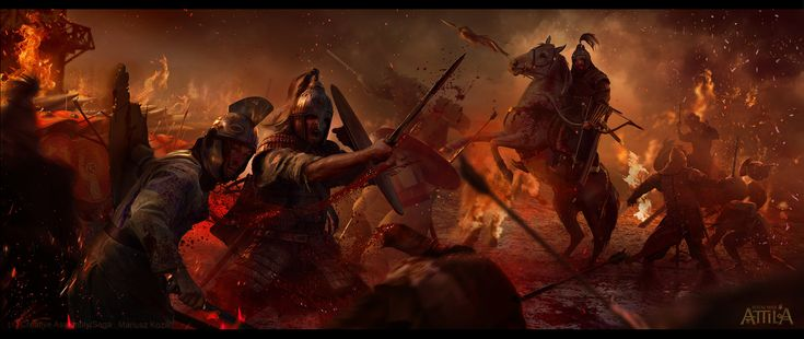 """Blood & Burning"" for Total War: Attila, Mariusz Kozik on ArtStation at https://www.artstation.com/artwork/blood-burning-for-total-war-attila"