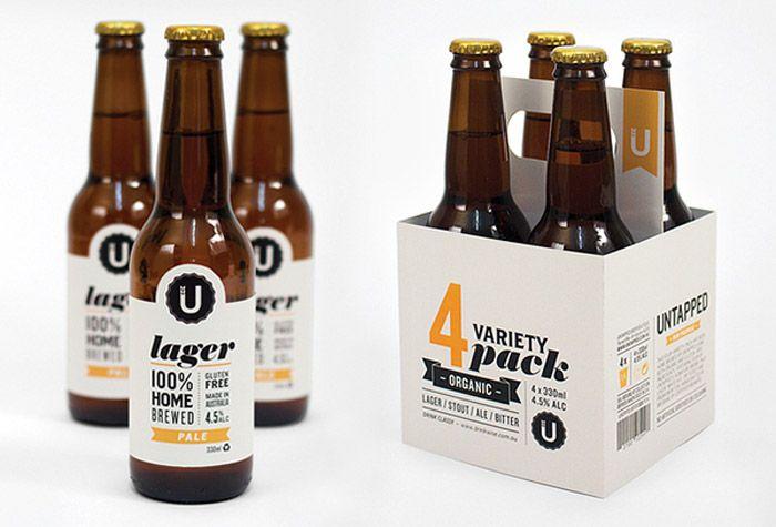 #houseofpackaging   Untapped Beer from Australia. Designed by Kelsey Heinrichs.