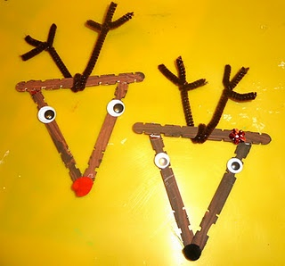 Craft Stick Christmas Ornaments
