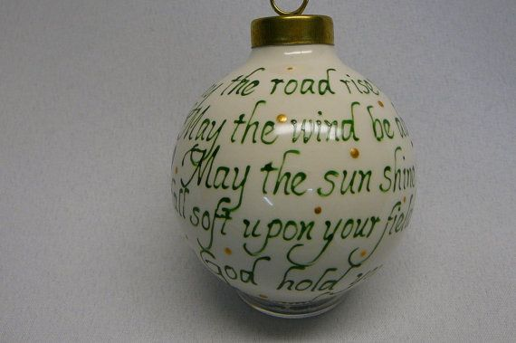 Gaelic Blessing Ornament by RaiseYourGlassShop on Etsy, $12.00
