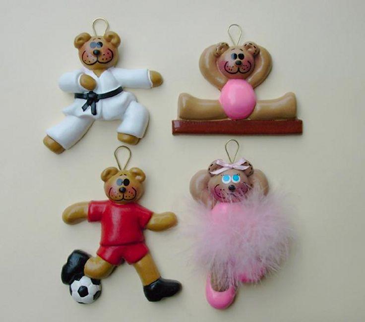 Sporty bears ornaments