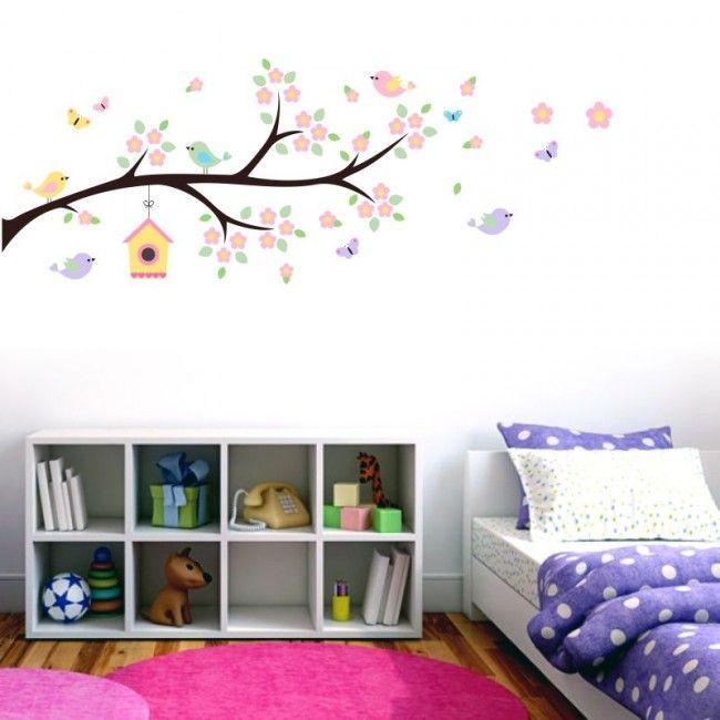 adesivo parede infantil galho encantado quarto menina