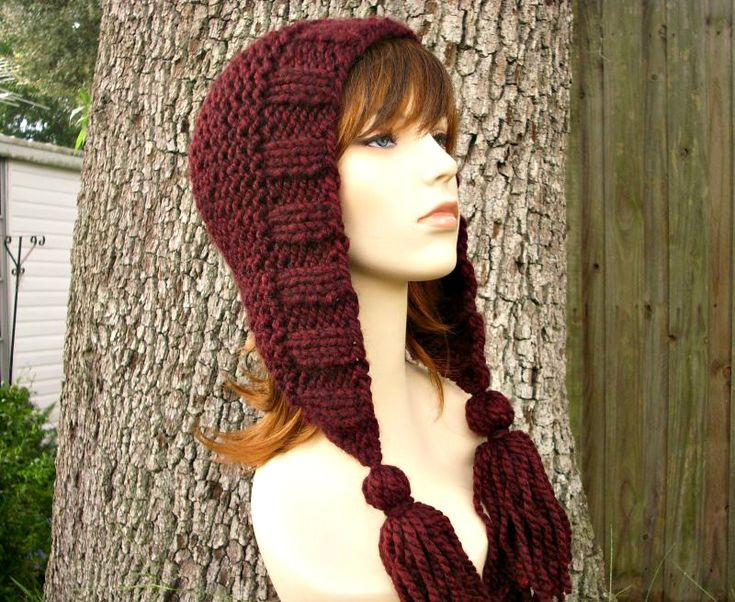 Knitting Pattern - Knit Hat Knitting Pattern PDF for Tassel Hat - Fall Fashion Autumn Fashion Autumn Accessories Knit Beanie. $5.00, via Etsy.