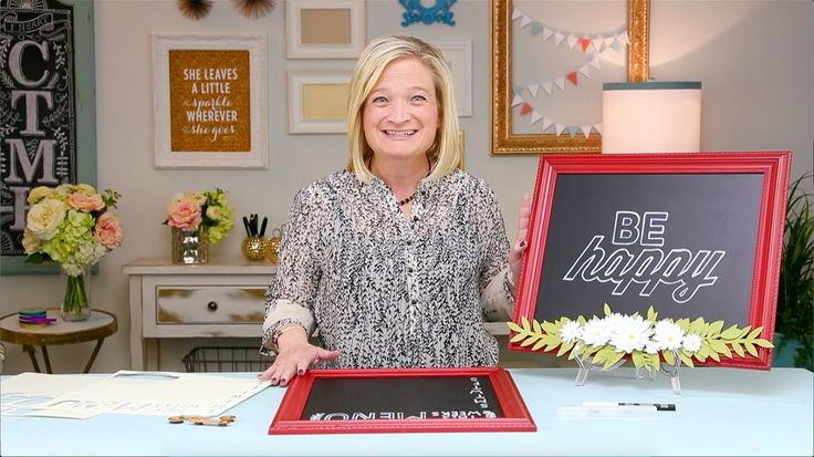 The Easy Way to Turn Your Chalkboard into a Work of Art www.creativehearts.ctmh.com.au