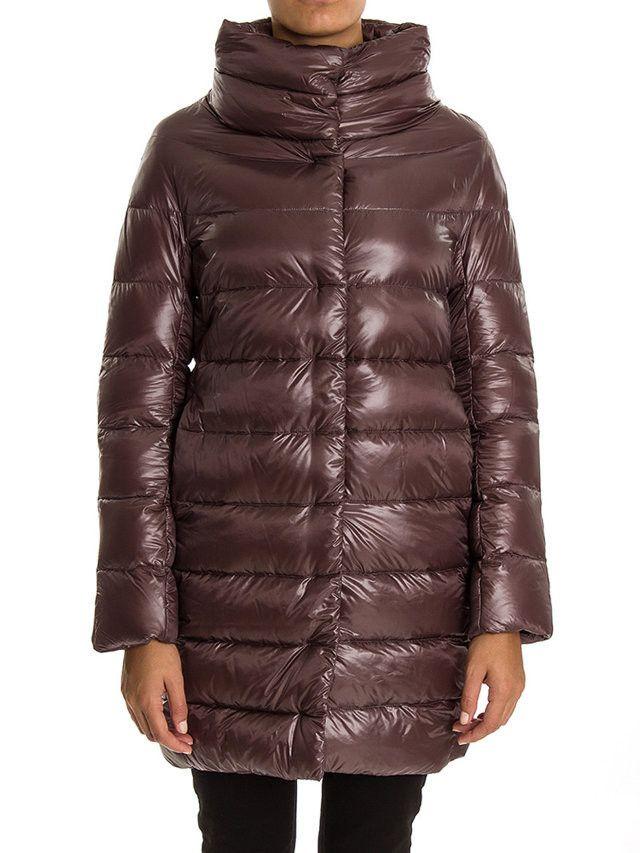 Herno-piumino lungo marrone-brown down coat-Herno shop online