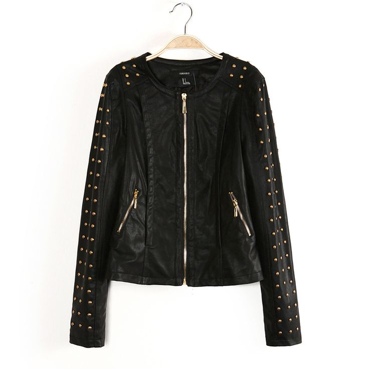 Aliexpress.com : Buy Winter and Autumn Punk Motorcycle Style Rivet PU Leather Outerwear Coat Jacket for Women from Reliable women Jacket suppliers on SweetHome Fashion Store $22.99