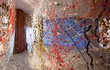 Ed Pien  Corridor 2009 Installation view Courtesy the artist, Pierre-Francois Ouellette art contemporain and Musée d'art contemporain des Laurentides  / photo Lucien Lisabelle