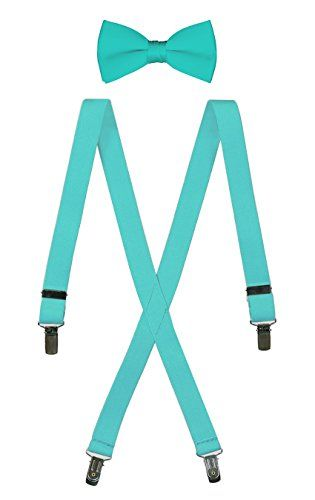 "Bow Tie and Suspender Set Combo in Men's & Kids Sizes (25"" Toddler, Tiffany Blue) Tuxgear http://www.amazon.com/dp/B01ABIU3R0/ref=cm_sw_r_pi_dp_1e9Qwb0FV3Q88"