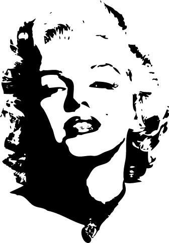 Marilyn Monroe Silhouette | Decals » Car Window Decals » silhouettes » Marilyn Monroe