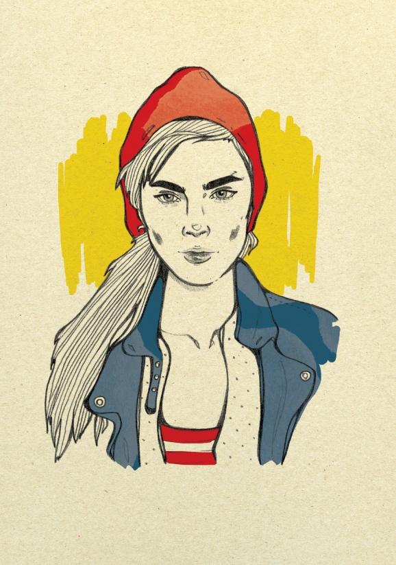 Fashion portraits 2 by Magdalena Pankiewicz, via Behance