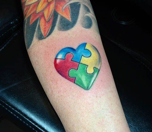 Autism Heart Tattoo by Monte Livingston