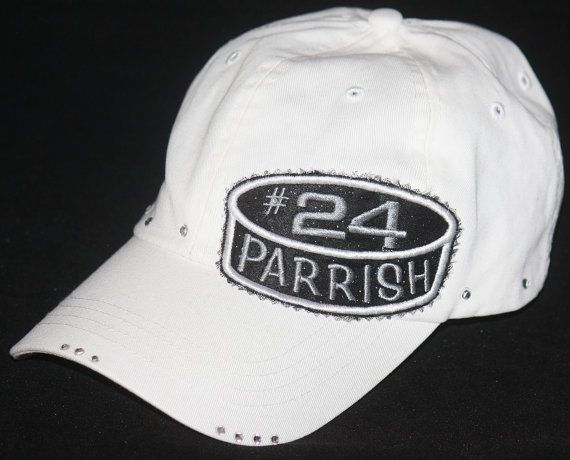 Custom HOCKEY hat. Hockey puck embroidered applique