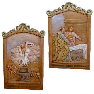 Vía Crucis 14 estaciones 80 x 60 cm madera tallada a mano | venta online en HOLYART