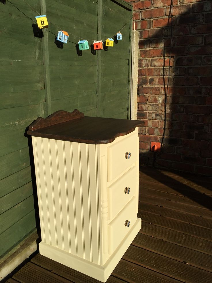 Bedside Cabinets Hand Painted With Autentico Paris White Chalk Paint.  www.inheritedgracedecor.co.uk Warrington, Cheshire