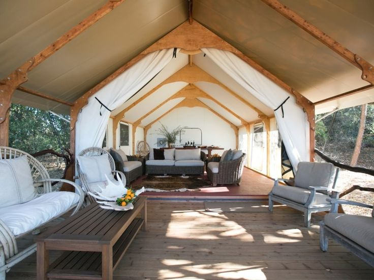 Chappellet Winery Canvas Cottage Installation - Rainier Wall Tents