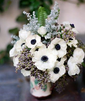 I love poppies! And these white and navy poppies are gorgeous. May have to try my hand at growing these this year.