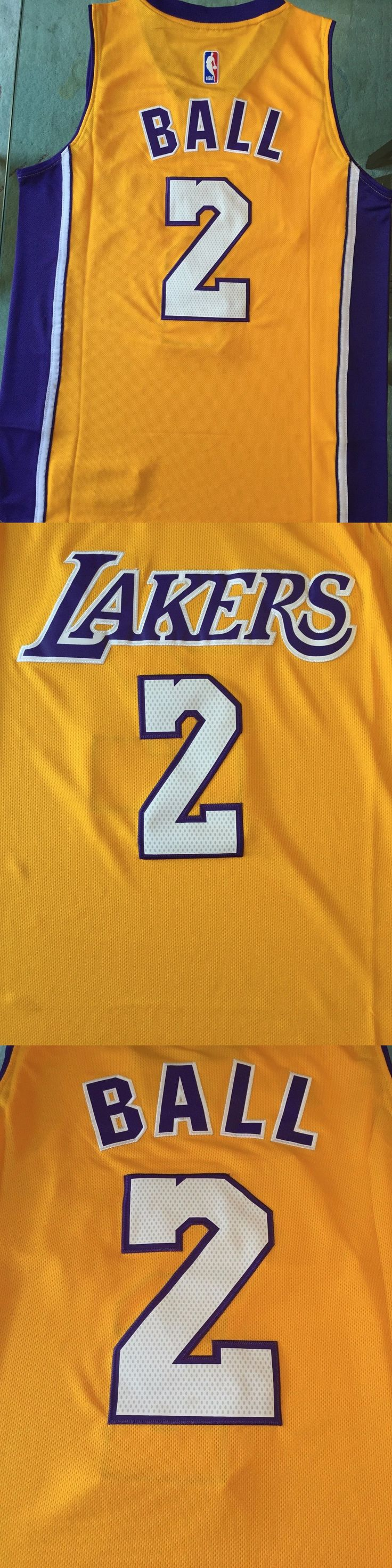 Basketball-NBA 24442: Nwt Lonzo Ball #2 Los Angeles Lakers Yellow Jersey Stitched Men -> BUY IT NOW ONLY: $38.99 on eBay!