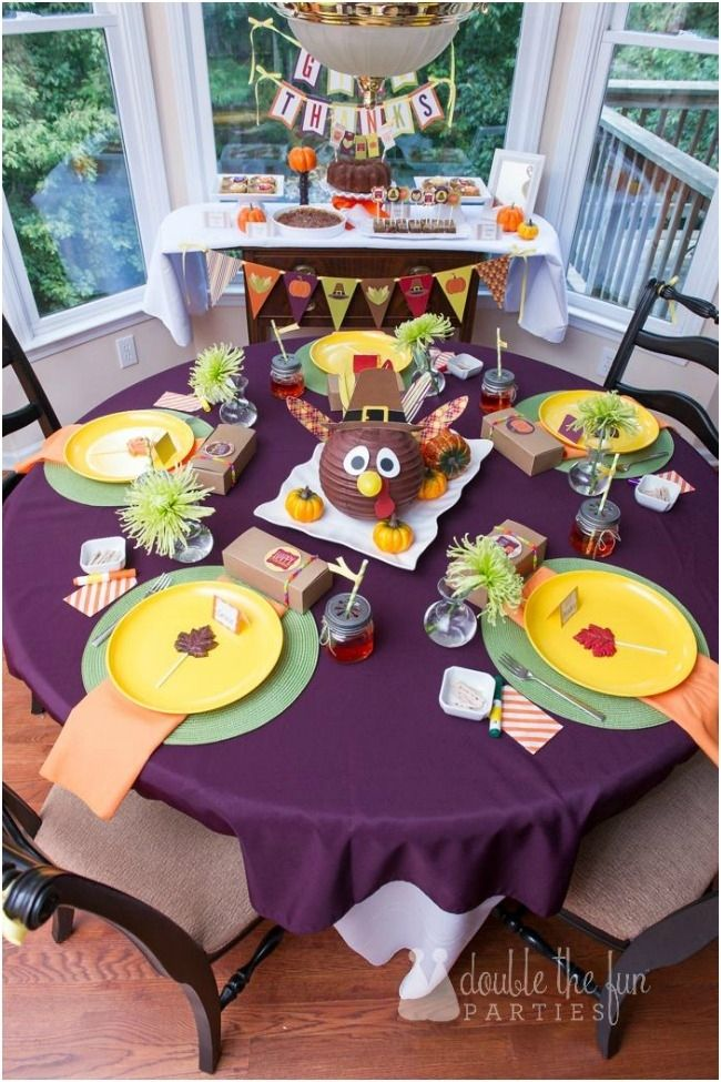 Thanksgiving Kids Table and Party by Double Fun The Parties with Printables by Love The Day & 142 best Holiday Thanksgiving Kids Table images on Pinterest ...