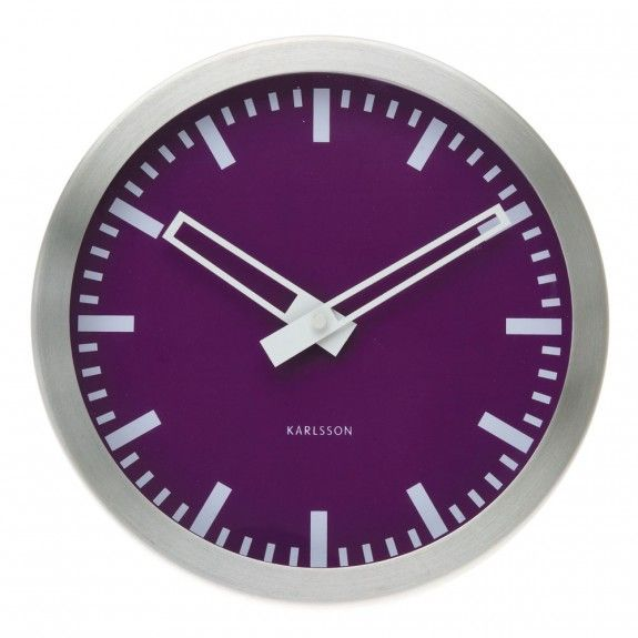 #radiant #orchid #designer #clock