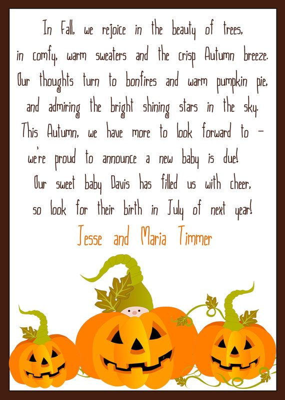 Digital Card Autumn Fall Baby Pumpkin by EverburgPhotography