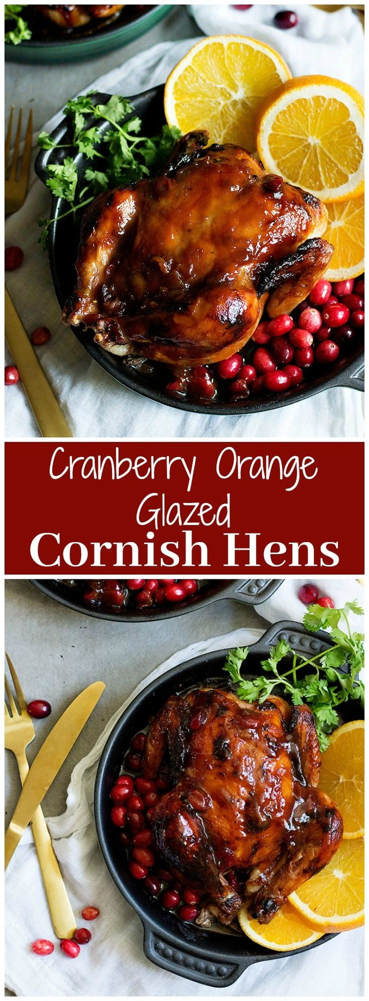 Orange Glazed Cornish Hens | Cranberry Orange Glazed Cornish Hens | Orange Glazed Chicken Recipe | #GamedayRecipe #HolidayRecipe #ChickenRecipe