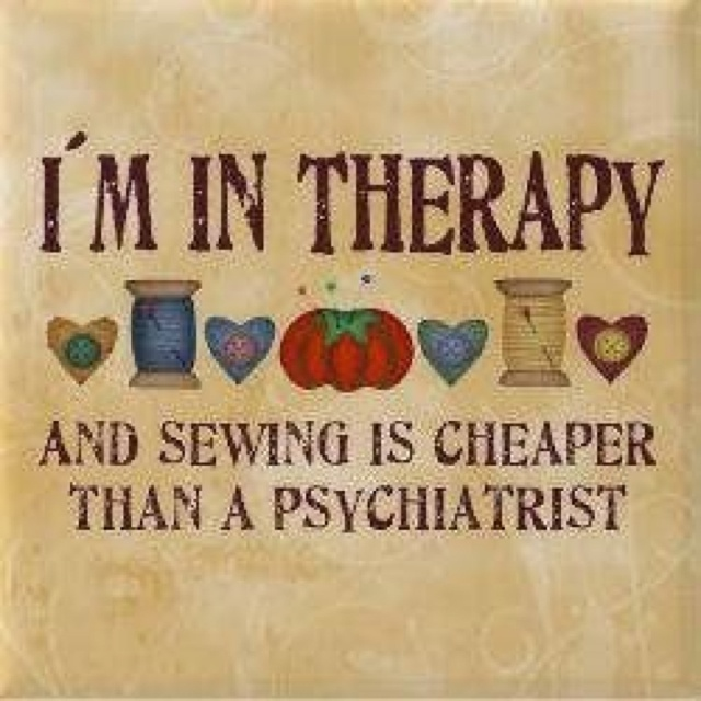 Sewing therapy!!