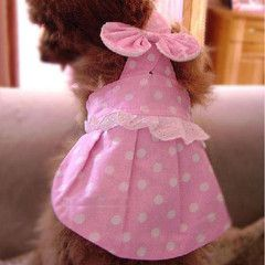 Show your adorable pet or cute dog how much you love them by giving them something from our online pet shop store accessories! This online pet supply accessory in particular features a cute pink dress