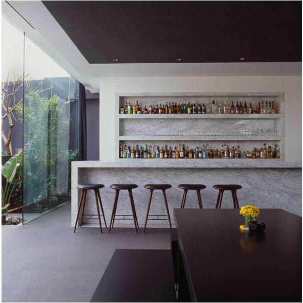 beautiful marble bar