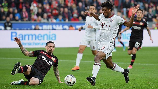 Bundesliga: Die schönsten Fotos vom Bundesligaspiel zwischen Bayer 04 Leverkusen und dem FC Bayern.