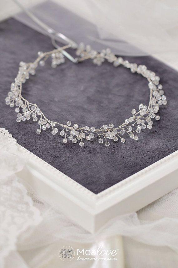 Kopfstück Birdal Zubehör Halo Hochzeit Haar Bridal von MoaLove