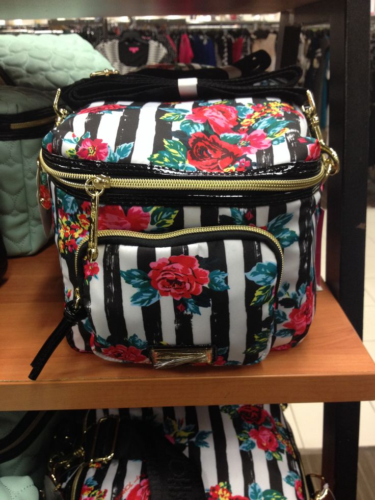 Betsey Johnson, blooming springs cargo lunch tote. $22.99 at Burlington Coat Factory.