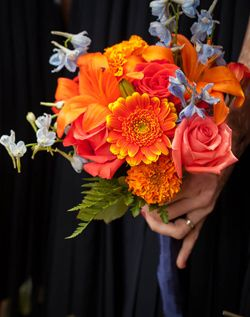 Multi-coloured Wedding #ORANGE BRIDESMAIDS ... Wedding ideas for brides & bridesmaids, grooms & groomsmen, parents & planners ... https://itunes.apple.com/us/app/the-gold-wedding-planner/id498112599?ls=1=8 … plus how to organise an entire wedding, without overspending ♥ The Gold Wedding Planner iPhone App ♥